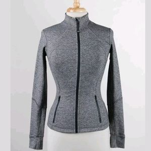 Lululemon Charcoal Gray Long-Sleeved Athletic Top